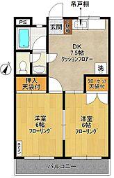 丸五マンション[203号室]の間取り
