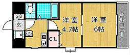 M'PLAZA津田駅前十番館[2階]の間取り