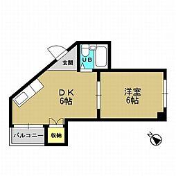メゾンブランシェ1番館[5階]の間取り