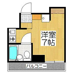 リエス東堀川[4階]の間取り