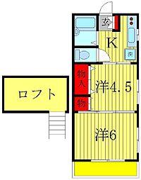 ジュネパレス松戸第93[2階]の間取り
