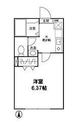 神奈川県横浜市港南区上大岡東2の賃貸アパートの間取り