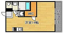 阪東ハイツ[202号室]の間取り