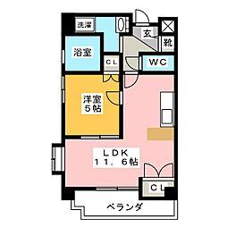 ミレニアム[5階]の間取り