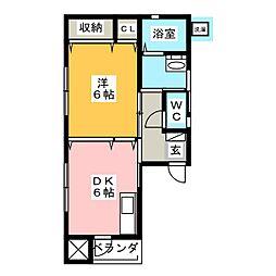 カーサマキシム[1階]の間取り
