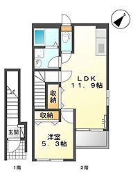 La-recolte[2階]の間取り