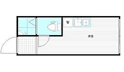サークルハウス下井草弐番館 1階ワンルームの間取り