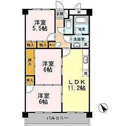 脇坂マンション[4階]の間取り