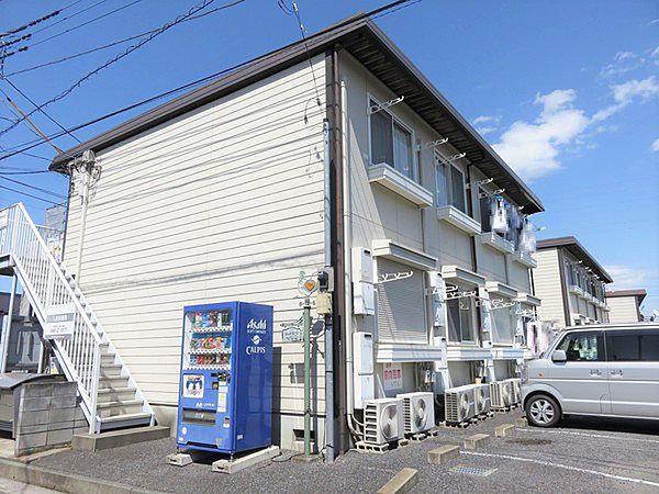 埼玉県久喜市栗原3丁目の賃貸アパートの外観
