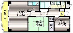 東京都世田谷区千歳台5の賃貸マンションの間取り