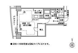 河田町コンフォガーデン[7階]の間取り