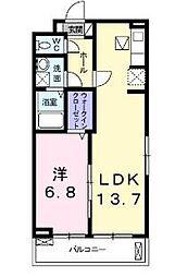 シャノワール 3階1LDKの間取り
