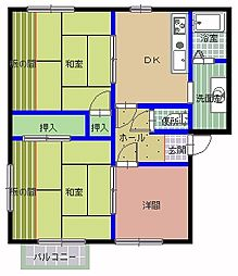 メゾンエスポワール B[1階]の間取り