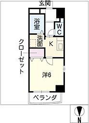 レーベン新城[4階]の間取り