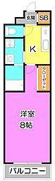 アステル 〜aster〜(星)[2階]の間取り