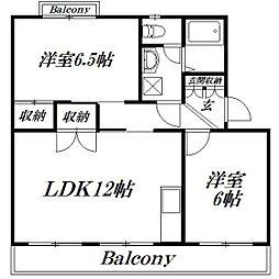 静岡県浜松市中区曳馬3丁目の賃貸マンションの間取り