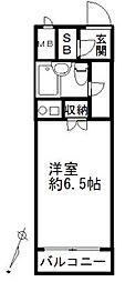 セザール登戸[314号室]の間取り
