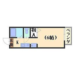 ハイツKOUNAN[205号室]の間取り