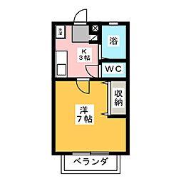 ハッピー下中野[2階]の間取り