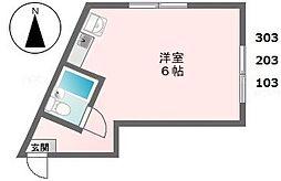 サカエコーポ(桜ヶ丘)[103号室]の間取り
