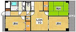 アデレード3番館[1階]の間取り