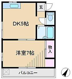 シャトレ上中里[2階]の間取り