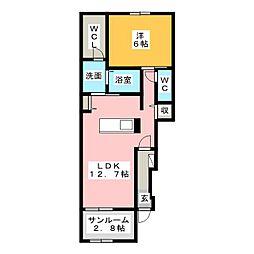 GLANZ M[1階]の間取り