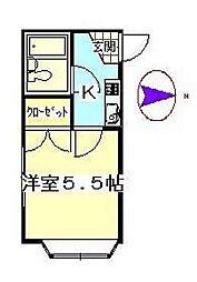 東京都杉並区西荻北3丁目の賃貸アパートの間取り