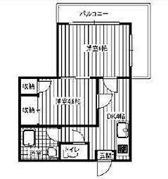 東京都荒川区荒川3丁目の賃貸マンションの間取り