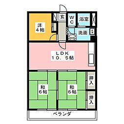 コバヤシミルクハウス[2階]の間取り