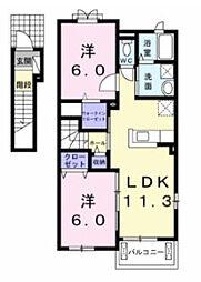 メゾン ド シロン[2階]の間取り