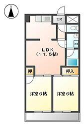 サンシャトー春日井[2階]の間取り