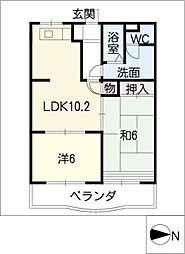 MIO BLD[3階]の間取り