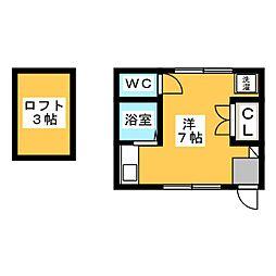 カーサユーワン[2階]の間取り