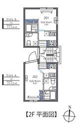 Luxe residence菊川 5階1Kの間取り