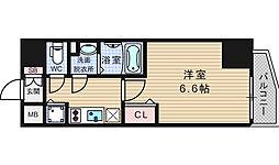 ララプレイス難波シエール[6階]の間取り