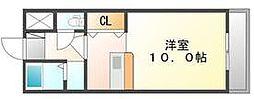 高松琴平電気鉄道琴平線 片原町駅 徒歩5分の賃貸マンション 5階1Kの間取り