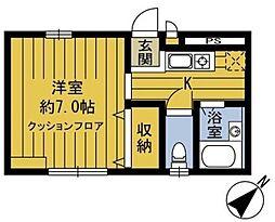 ドエルヤマキ bt[101kk号室]の間取り