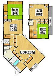 [一戸建] 東京都清瀬市中里2丁目 の賃貸【/】の間取り