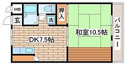 兵庫県神戸市須磨区月見山本町1丁目の賃貸マンションの間取り