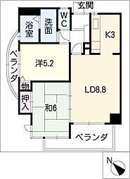 シティマンション赤池[2階]の間取り