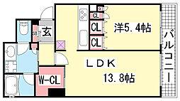 ジークレフ神戸元町[303号室]の間取り