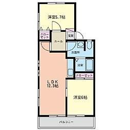 神奈川県横浜市泉区和泉中央北4丁目の賃貸アパートの間取り