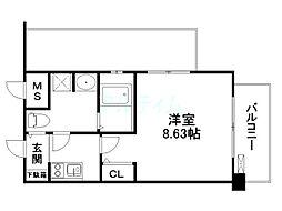 レジディア京都駅前[3階]の間取り