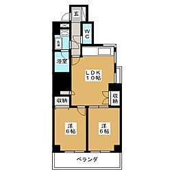 プレジャーコート[8階]の間取り