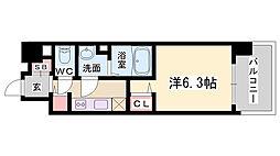 プレサンス新神戸[402号室]の間取り