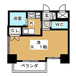 HF久屋大通レジデンス[9階]の間取り