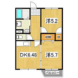 カーサ32[1階]の間取り