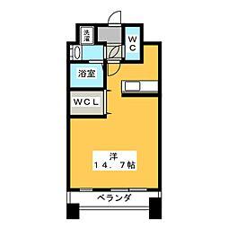 壱番館元今泉[8階]の間取り
