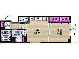 セントアミー鶴見[6階]の間取り